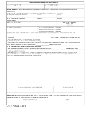 Afrotc Form 28 - Fill Online, Printable, Fillable, Blank | PDFfiller