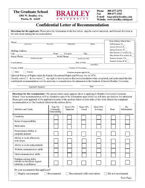 letter of recommendation fill in form