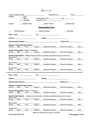 Fillable Online bpc Revised 8/11/08 JCB Demographics Form ...
