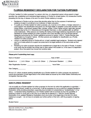 Broward College Residency - Fill Online, Printable, Fillable ...