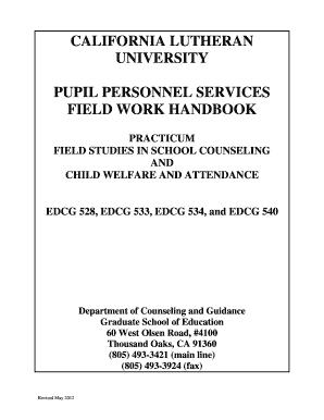 California Lutheran University Counseling And Guidance Fieldwork