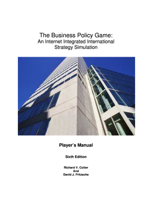 Policies and procedures manual for small business forms and business policy game form pronofoot35fo Image collections