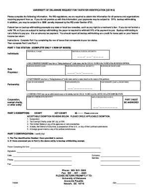 Delaware Form W9 Printable