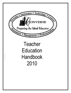 Teacher Education Handbook 2010 - Converse College