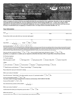 free scholarship application template edit fill print download