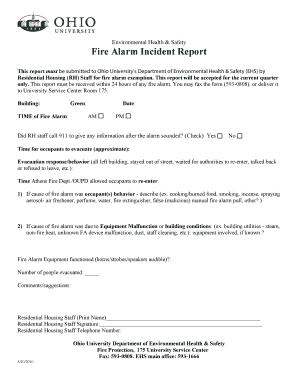 Beautiful Haw Makeincident Report Of Fire Alarm