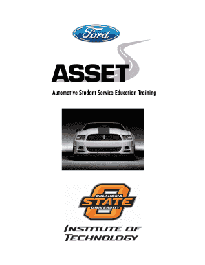 Ford ASSET Tool List - OSU Institute of Technology - osuit