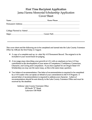 Scholarship recipient certificate forms and templates for Memorial scholarship certificate template