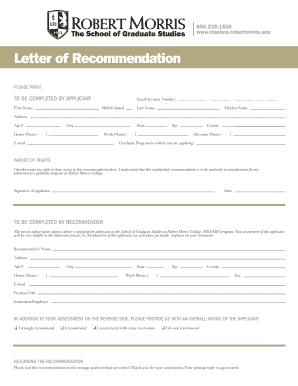 Robert morris university recommendation form fill online robert morris university recommendation form spiritdancerdesigns Image collections
