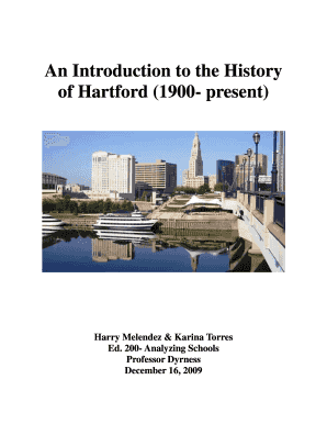 An Introduction to the History of Hartford (1900 ... - Trinity College