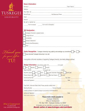 Editable letter of recommendation thank you gift fill out print pledge form tuskegee university negle Choice Image