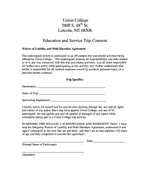 Class trip 2 waiver form.