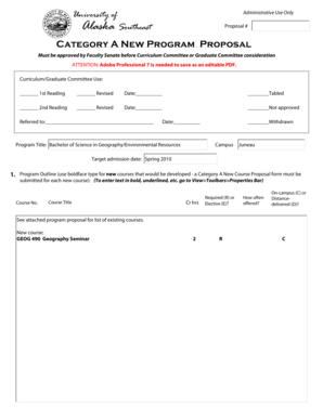 25 Printable Program Proposal Template Forms Fillable Samples In