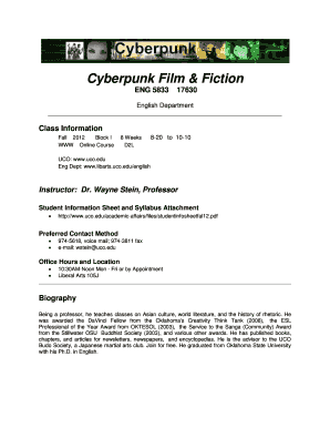 Cyberpunk Film & Fiction - University of Central Oklahoma - uco