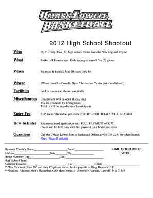 basketball tournament flyer form