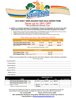 photo relating to Schlitterbahn Printable Coupons identify Schlitterbahn Year P Coupon codes 2013 - Fill On the web