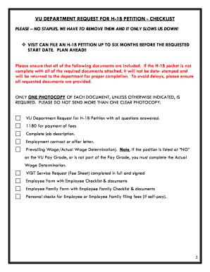 Vanderbilt University H1b Visa Fill Online Printable Fillable Blank Pdffiller