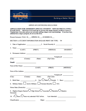 vsu application