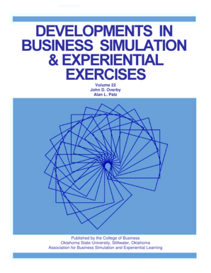 Developments in business simulation & experiential exercises