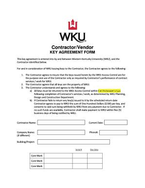 Keys Agreement - Fill Online, Printable, Fillable, Blank | PDFfiller