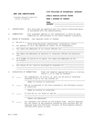 Fillable Online END USE CERTIFICATE.pdf - Public Surplus Fax Email ...