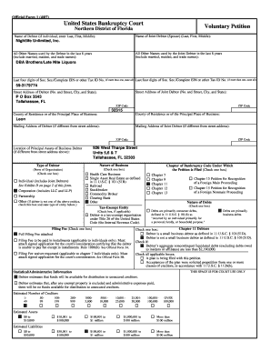 Fillable Online Official Form 1 (407) Fax Email Print - PDFfiller