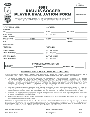 Player Form Fill Online Printable Fillable Blank Pdffiller