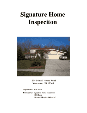 Sample Home Inspection Report - Signature Home Inspection