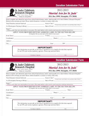 St Jude Donatons Forms - Fill Online, Printable, Fillable, Blank ...