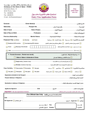 Application Form For Qatar Visa - Fill Online, Printable, Fillable ...