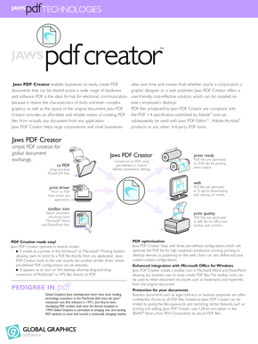 Jaws PDF Creator version 3 datasheet - Technosolutions