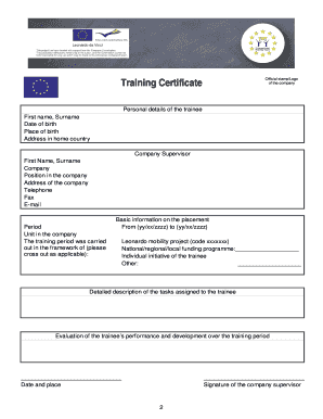 Detailed Training Certificate And Europass ... - epaveiro.edu.pt