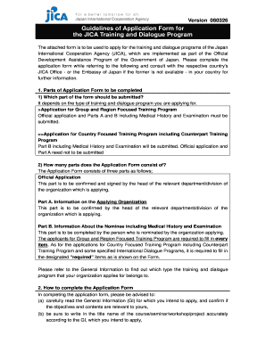 Jica Training Application Form - Fill Online, Printable