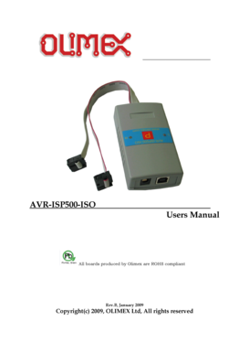 AVR-ISP500-ISO Users Manual