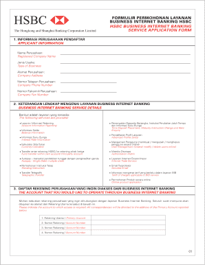 Fillable hsbc business banking forms Form Samples to