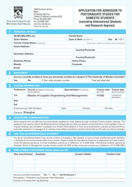 postgraduate coursework application form Choose your program postgraduate coursework programs include graduate certificates, graduate diplomas, master's degrees by coursework and some professional doctorates whether you're switching careers, going to university for the first time, or expanding your expertise, the first step in the application process is to find a suitable program.
