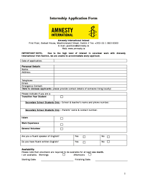 How To Fill Online Form Of Amnesty International - Fill