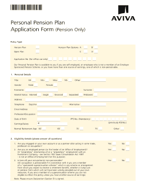 Fillable Online financialarchitects Aviva PPP Application ...