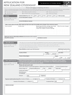 New zealand citizenship application fillable form