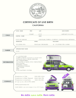 hard copy birth certificate template form