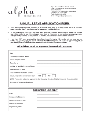 Annual leave request form fill online printable fillable blank annual leave request form thecheapjerseys Images