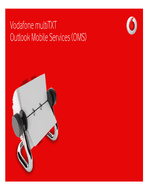 Vodafone multiTXT Outlook Mobile Services (OMS) - vodafone co