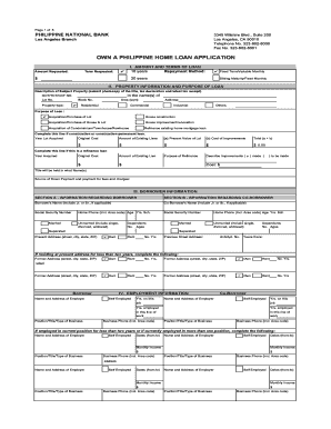 philippine national bank loan application form