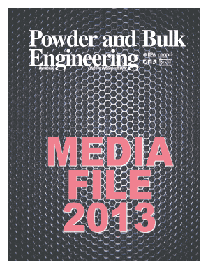 powder and bulk engineering media file form