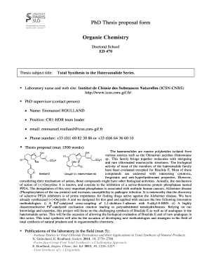 Organic chemistry phd thesis