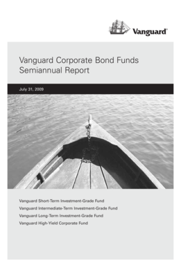 Vanguard Corporate Bond Funds Semiannual Report July 31, 2009