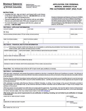 bc msp online payment 2013  form