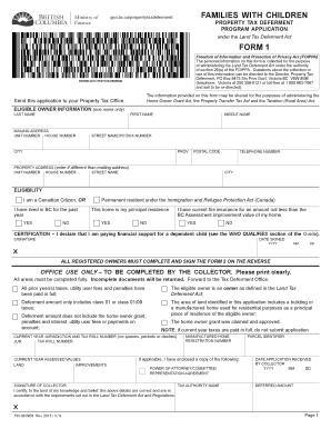Property Tax Deferment Form Bc
