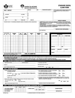 Canada Dental Form - Fill Online, Printable, Fillable, Blank ...