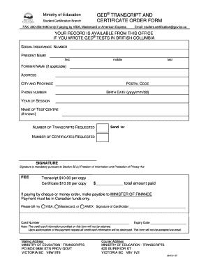 cook county ged Cook County Ged Transcript Request Form - Fill Online, Printable ...